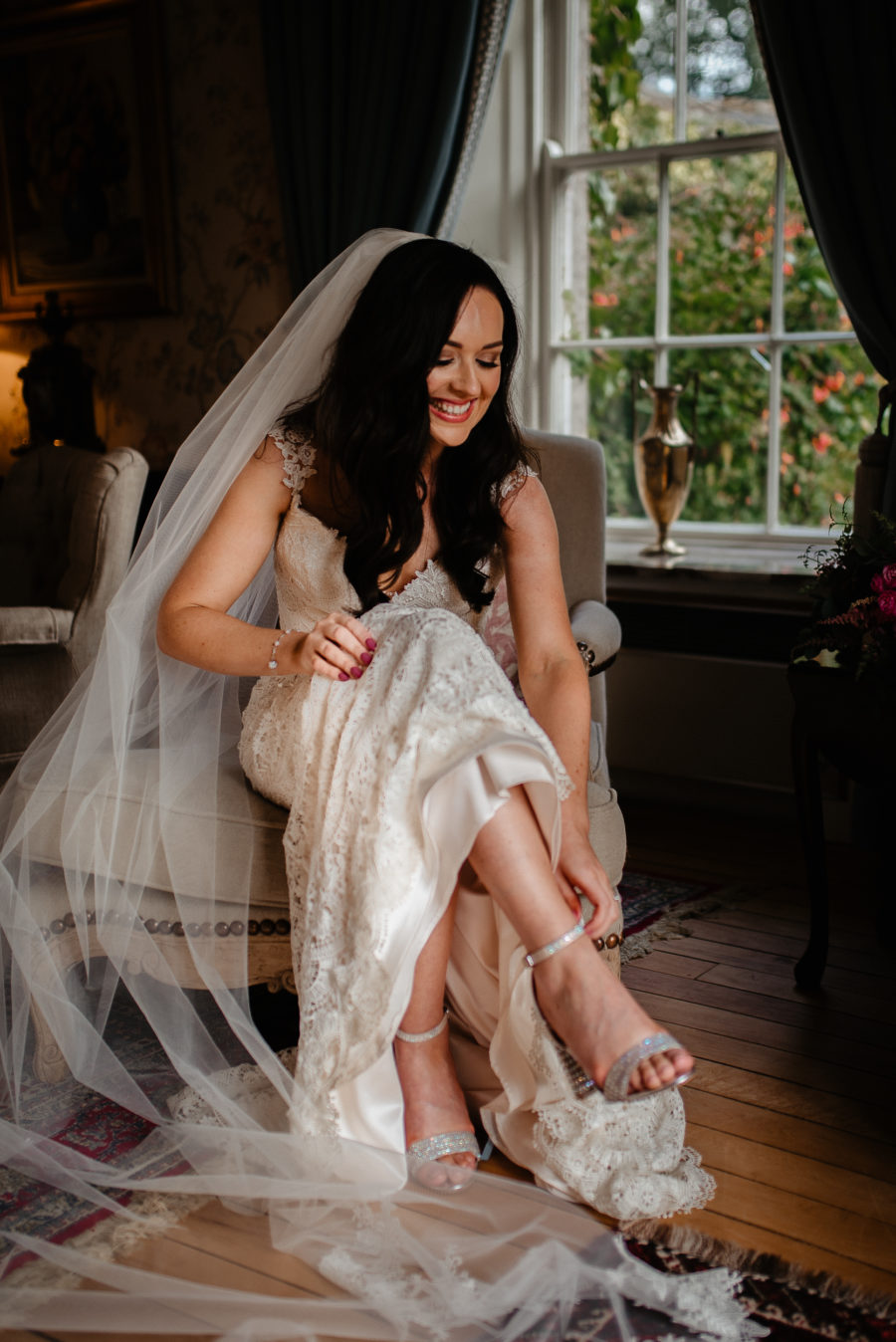 Trudder Lodge Wicklow Wedding Photos - portrait of the bride