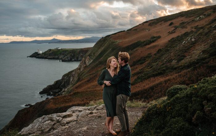 Howth Cliffs engagement photographer Ireland Dublin