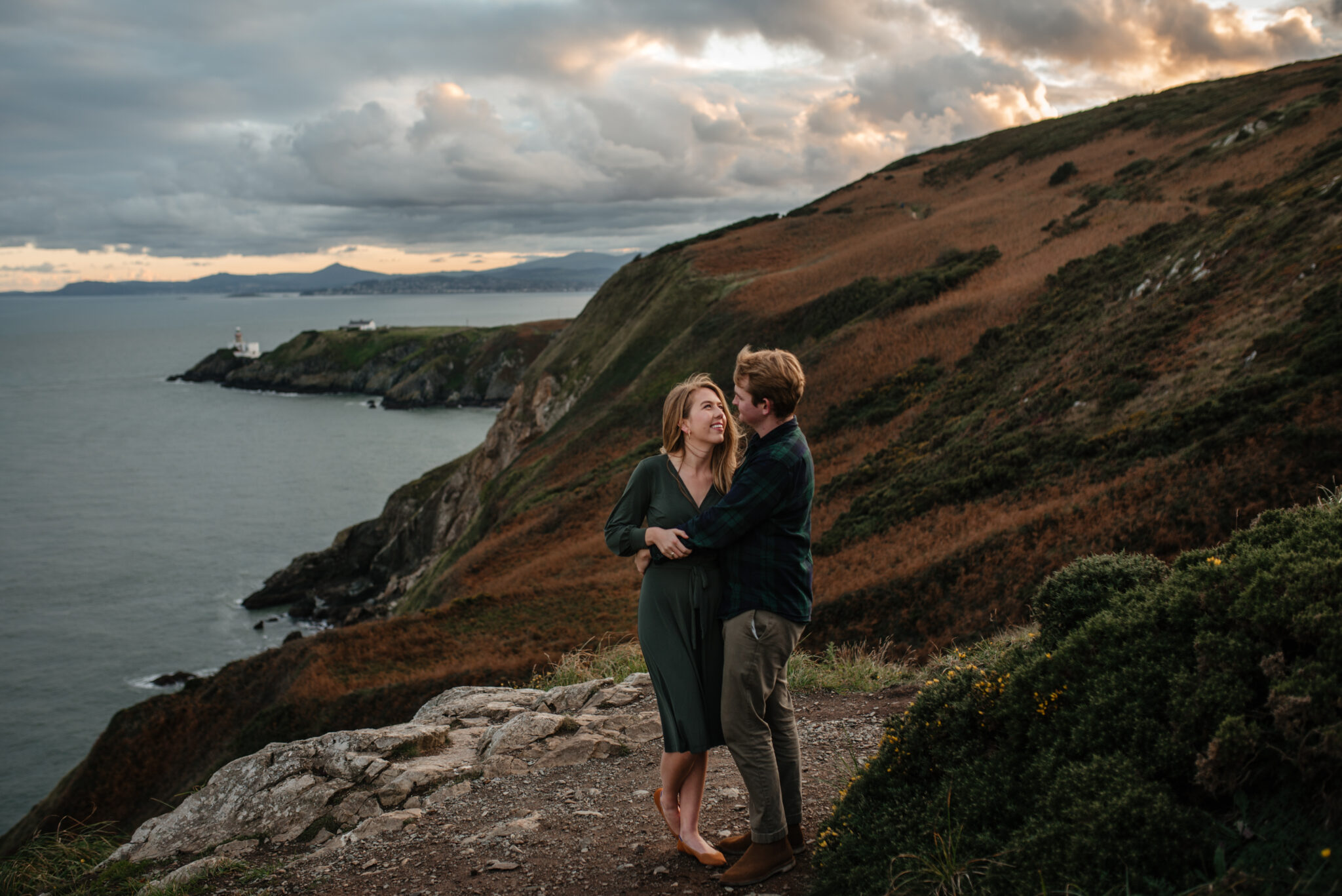 Howth Cliffs engagement photographer Ireland Dublin